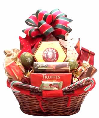 Canasta regalo con vinos canasta para vino en mimbre for Productos de navidad