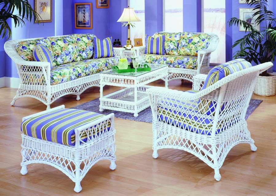 Asombroso Muebles De Mimbre Blanco A La Venta Componente - Muebles ...